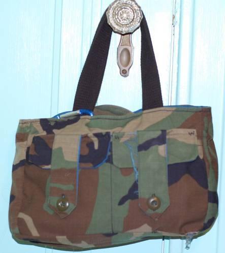 bolso militar camuflado