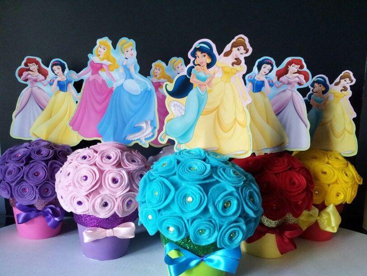centro mesa princesas 1
