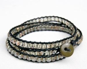 brazalete pulsera macrame perlas 1
