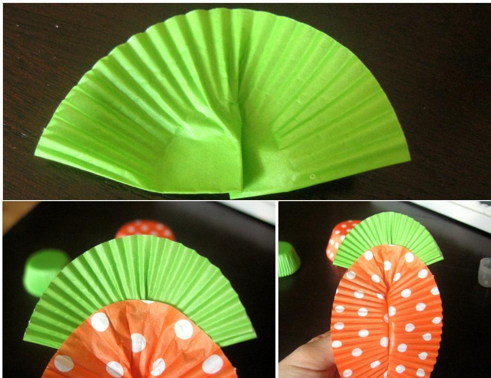 manualidades con papel de cupckakes