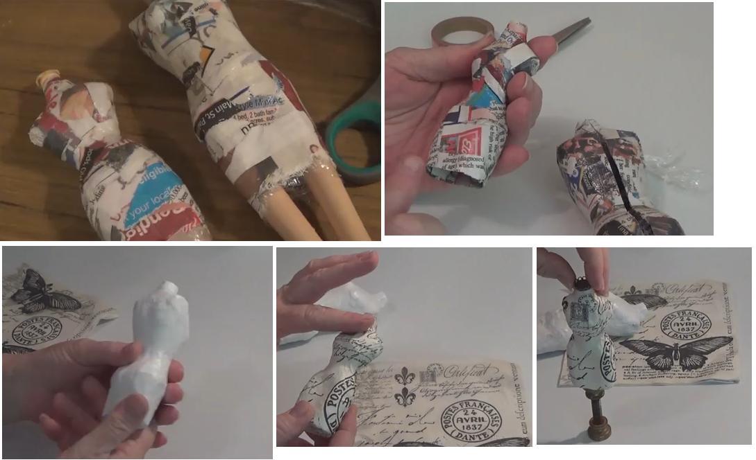 Maniquí en papel maché