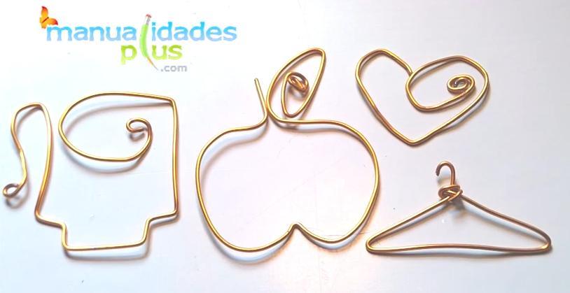 figuras con alambre como accesorios para cualquier proyecto que se