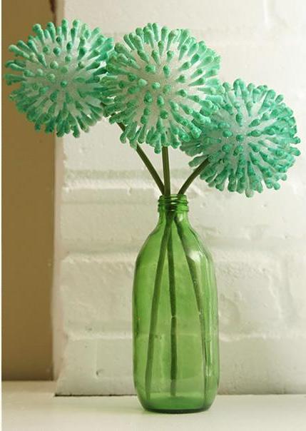 Como hacer flores con cotonetes manualidades para decorar - Hacer manualidades para decorar ...