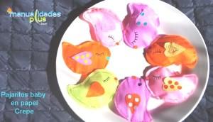 Pajaritos baby en papel crepe Manualidades con papel crepe Video