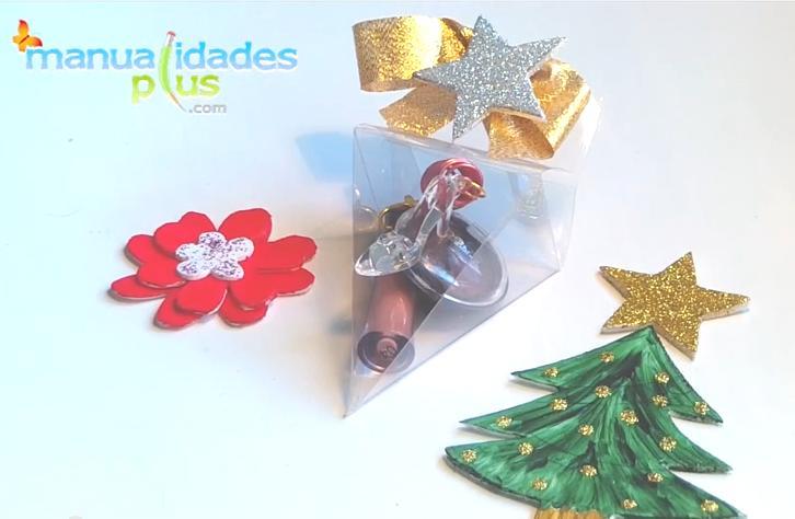 Cajas transparentes para colgar manualidades para navidad - Manualidades para navidades ...