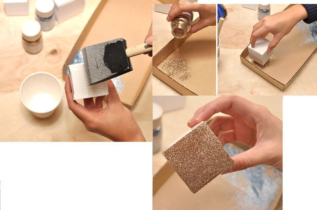 Como hacer cajas brillantes para regalo - Como hacer una caja de madera paso a paso ...
