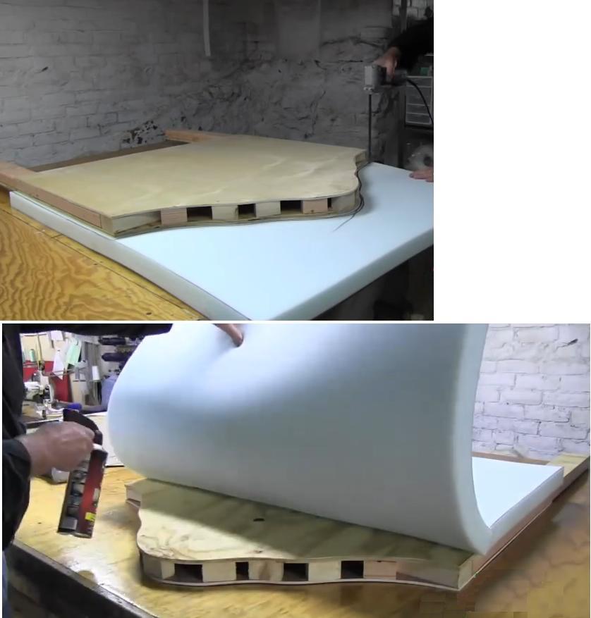Como hacer un respaldo de cama capiton - Hacer una cama de madera ...
