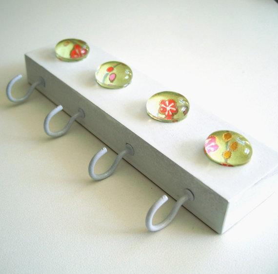 Porta llaves con gemas manualidades para vender - Manualidades faciles para vender paso a paso ...