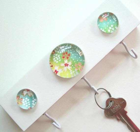 Porta llaves con gemas manualidades para vender - Manualidades para ganar dinero ...