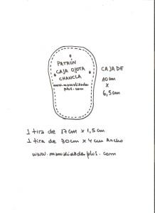 patron caja sandalias