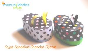 Cajas Sandalias Ojotas Chanclas Manualidades con cartulina