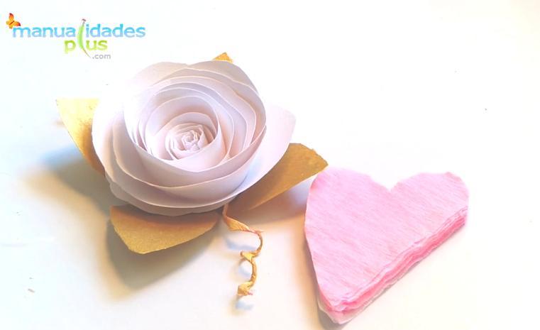 Rosas de papel para comunion bautismo o bodas paso a paso