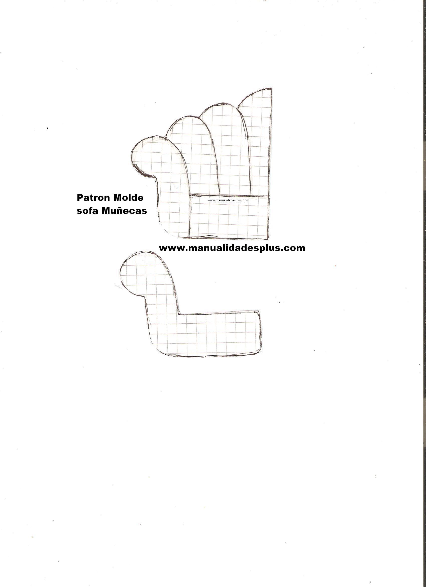 Manualidades para mu ecas sofa sillon facil patron gratis - Como hacer un sofa paso a paso ...