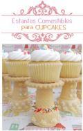 Estantes Cupcakes comestibles Manualidades para Cumpleaños