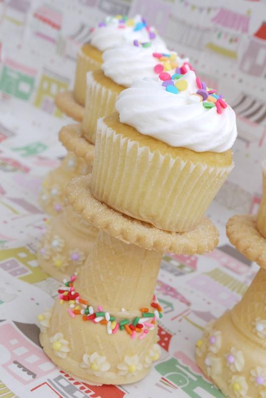 estantes cupcakes comestibles