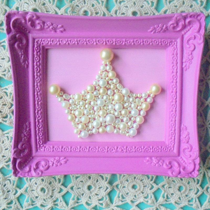 Cuadro con Perlas Decoracion cuarto de Nenas