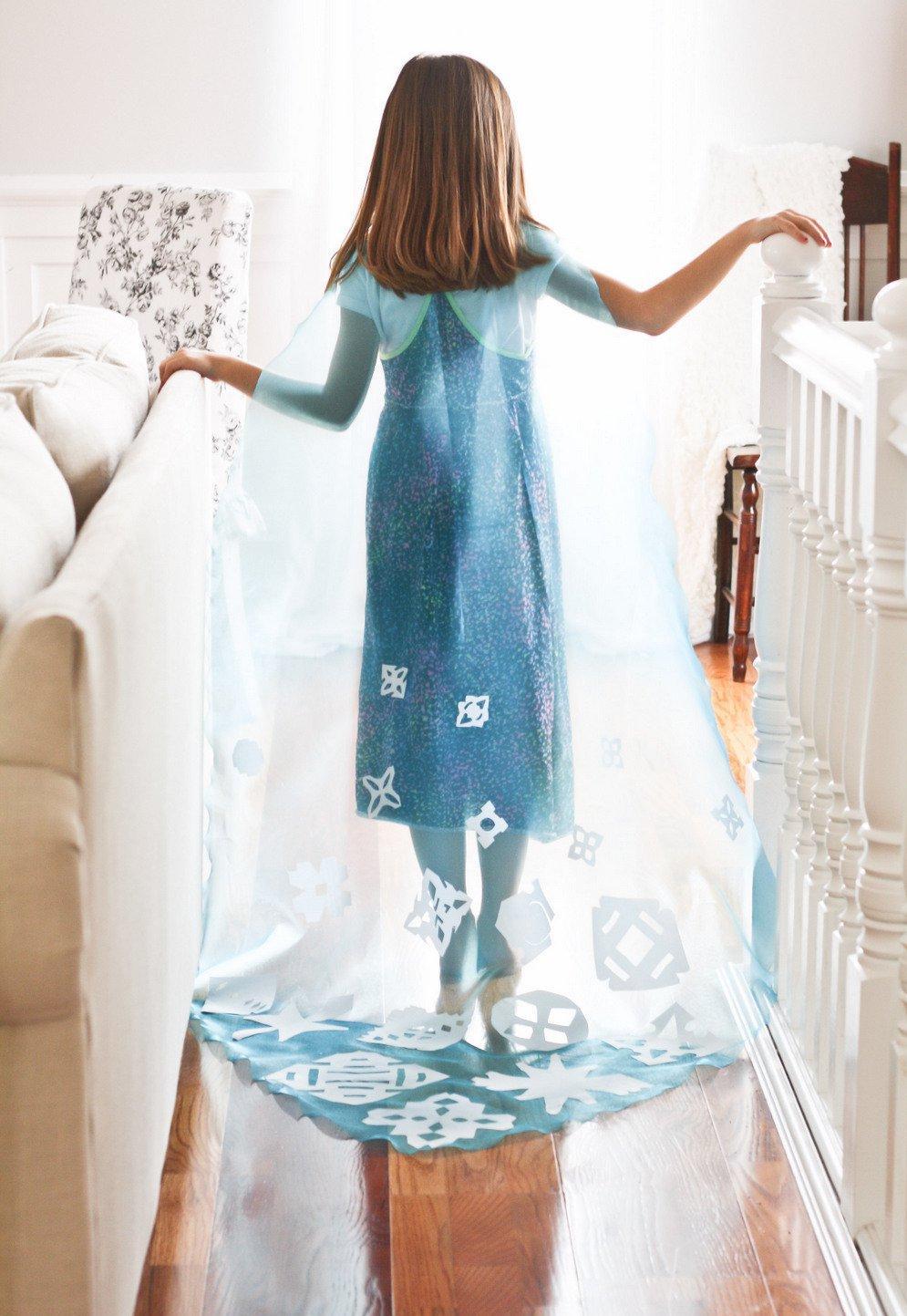 Como hacer la Capa de Elsa Frozen para Halloween Sin Coser