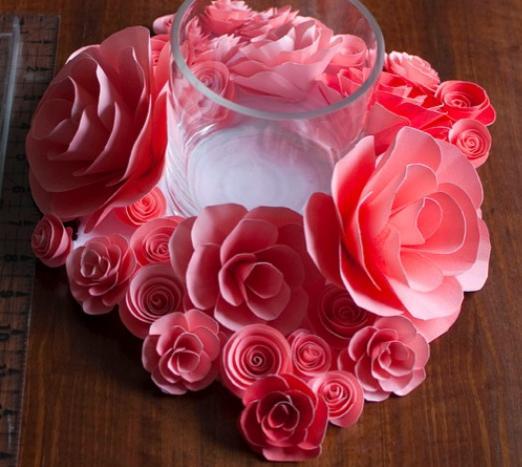 5 manualidades con flores de papel - Manualidades de papel para decorar ...