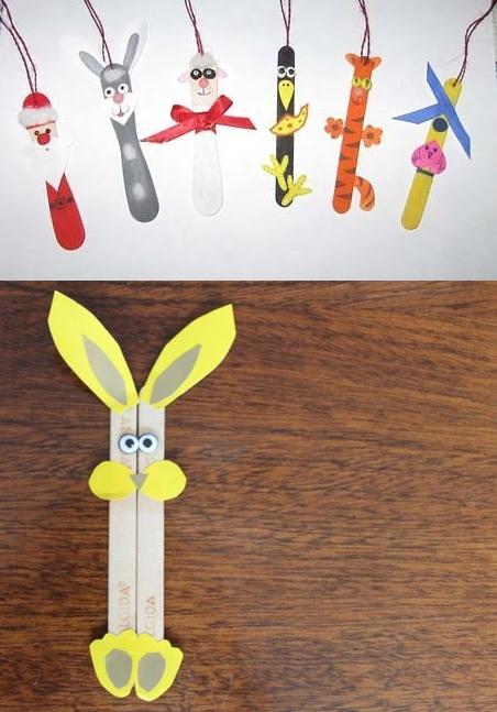 Angelitos con palitos de helado manualidades de hogar - Manualidades con palitos ...