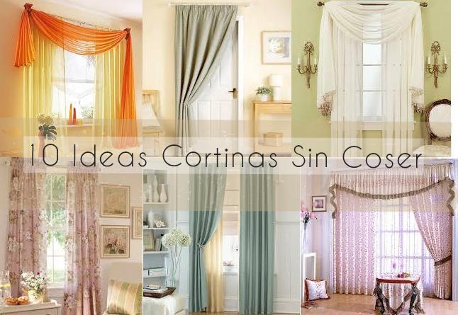 5 ideas de cortinas sin coser diy for Ideas de cortinas