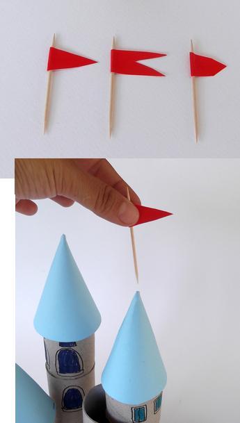 castillo con rollos de carton 6