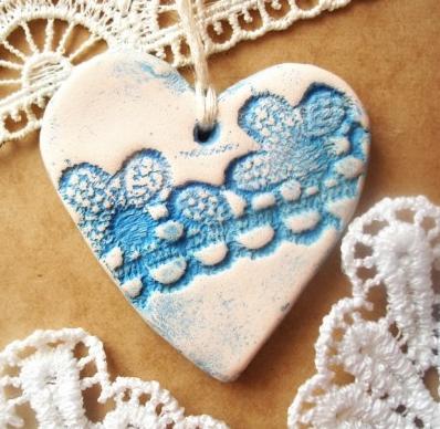 estampar ceramica porcelana corazon texturado 1
