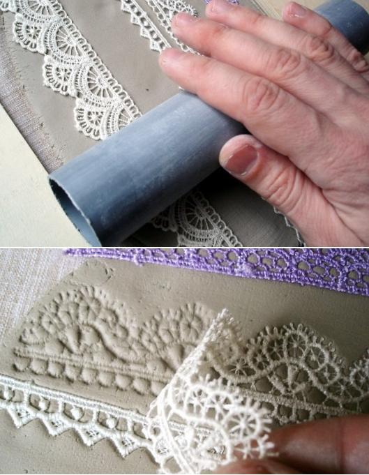 estampar ceramica porcelana corazon texturado 2