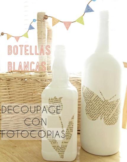 botellas decoradas fotocopias