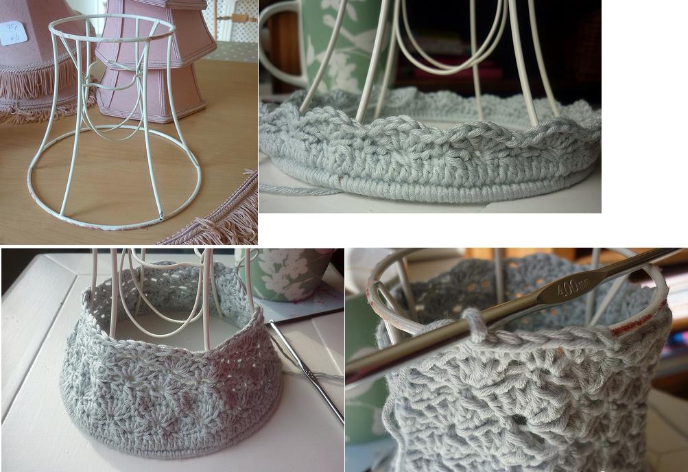 Pantallas lampara tejidas en crochet - Pantallas de lamparas ...
