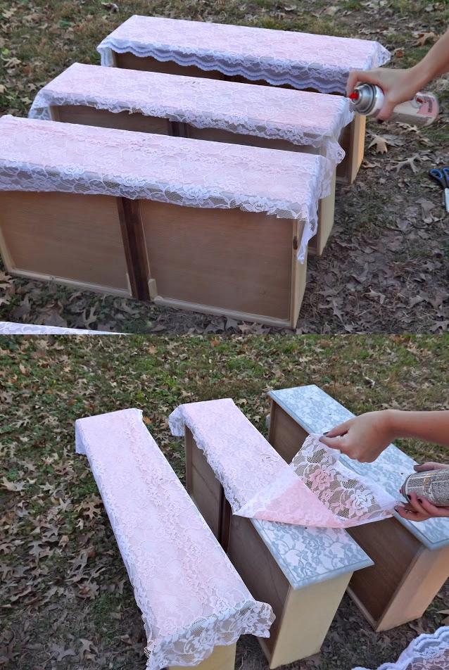 Como pintar muebles efecto encaje for Muebles de diseno imitacion