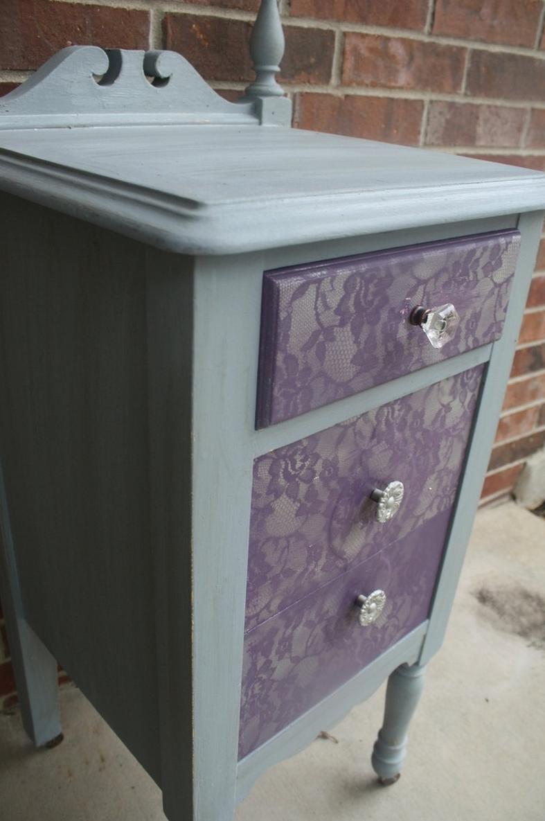 Como pintar muebles efecto encaje for Pintura de muebles de madera
