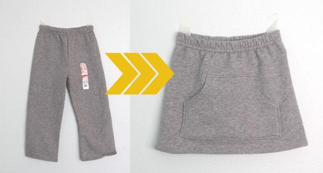 coser falda con un pantalon