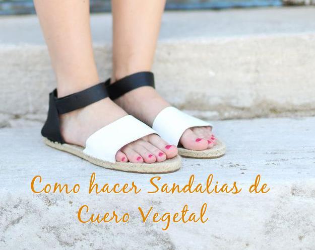 sandalias cuero vegetal diy