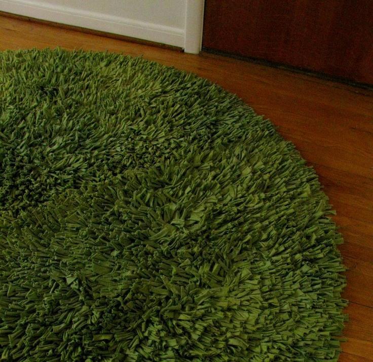 Alfombra tapete cesped sin coser diy - Como hacer alfombras de nudos ...