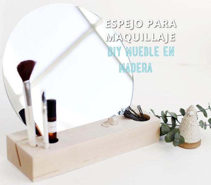 espejo para maquillaje diy http www manualidadesplus com