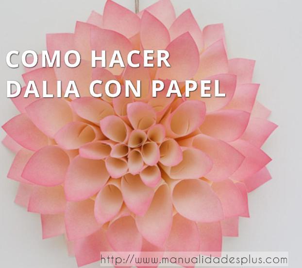 Como hacer flores dalia con papel - Como se hacen flores de papel ...