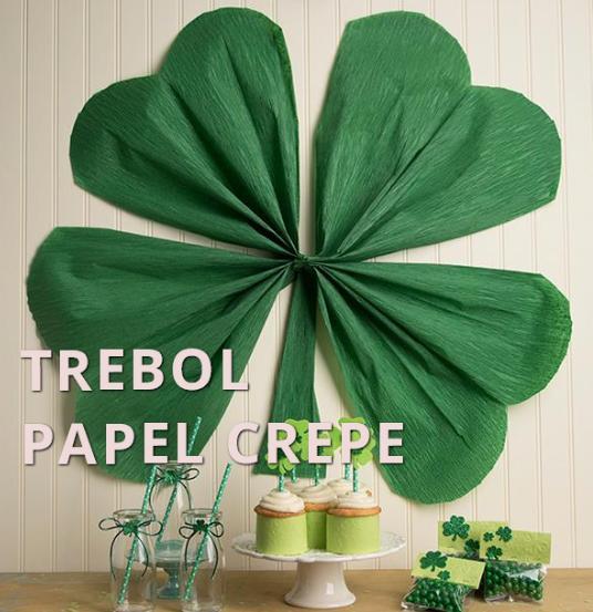Como hacer trebol con papel crepe gigante for Manualidades con papel crepe