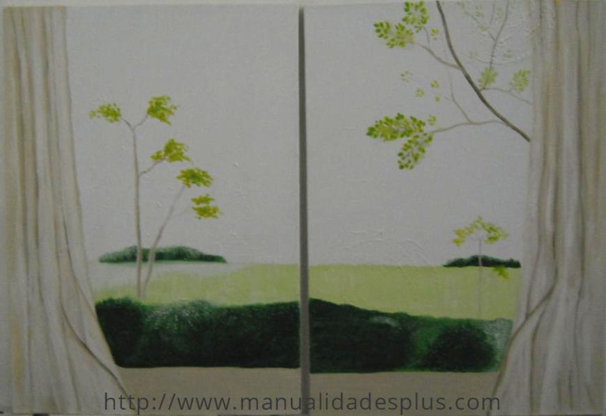 Pintar cuadro ventana acrilico paso a paso - Pintar con acrilicos paso a paso ...