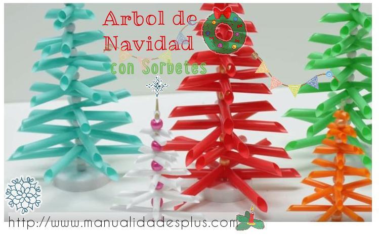 arbol de navidad con sorbetes paso a paso - Arbol De Navidad De Tela