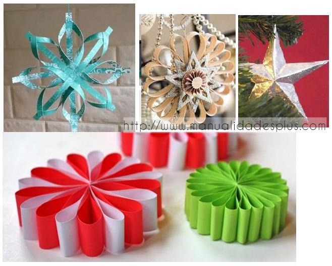 4 estrellas de navidad manualidades con papel - Para navidad manualidades ...