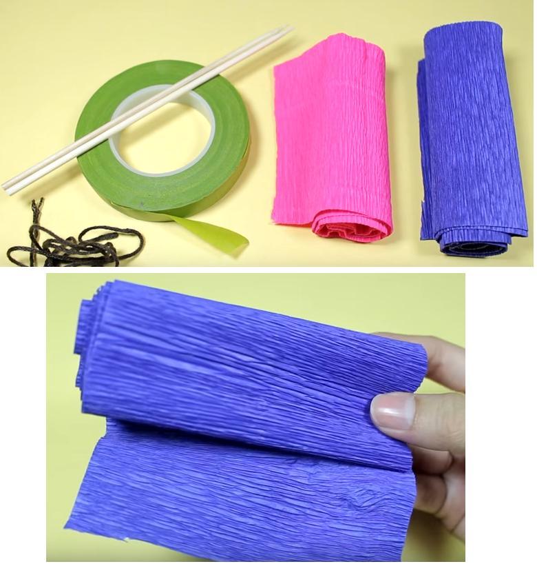 Rosas papel crepe faciles - Manualidades de papel para decorar ...