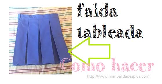 d8917959b Como hacer una Falda Tableada Uniforme Escolar
