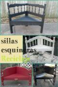 Sillas Esquineras con Reciclaje de Camas Viejas