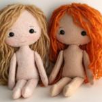 patrones muñecas tela