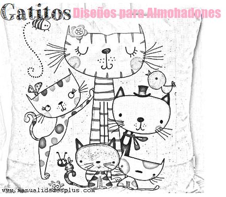 almohadones gatos