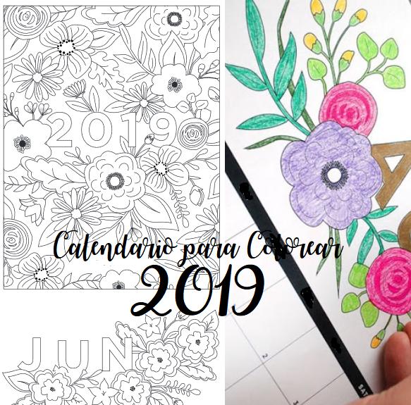 Calendario 2019 Para Colorear.Calendario 2019 Para Colorear Gratis