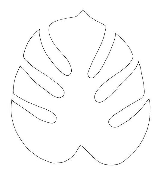 moldes hojas