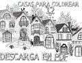 12 Casas para Colorear Imprimir Gratis