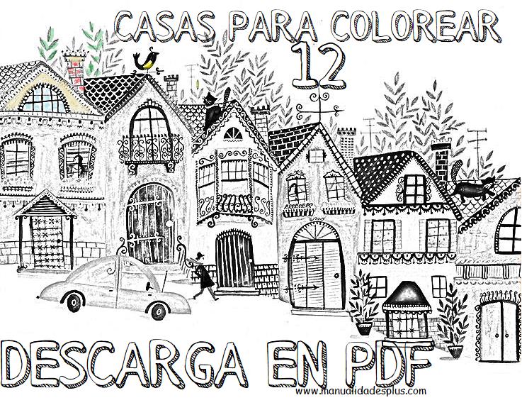 casas colorear