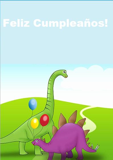 Tarjeta Dinosaurios Invitacion Cumpleaños